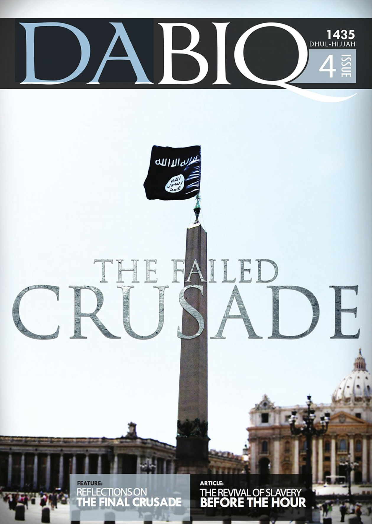 "Hochglanz-Terrorismus: Cover des IS-Magazins ""Dabiq"" (Screenshot)"